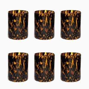 Verres Leopardo par Stories of Italy, Set de 6