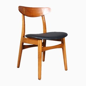 Danish Teak Model CH-30 Dining Chair by Hans J. Wegner for Carl Hansen & Søn, 1960s