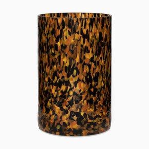 Vaso alto Leopardo in vetro di Stories of Italy
