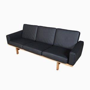 Canapé Modèle 236/3 en Chêne et Cuir par Hans J. Wegner pour Getama, Danemark, 1960s