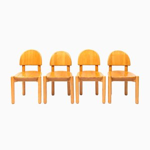 Scandinavian Modern Danish Dining Chairs by Rainer Daumiller for Hirtshalls Sawmills, 1970s, Set of 4