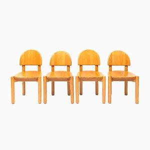 Skandinavische moderne dänische Esszimmerstühle von Rainer Daumiller für Hirtshalls Sawmills, 1970er, 4er Set
