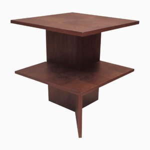 Vintage Art Deco French Walnut Side Table, 1930s