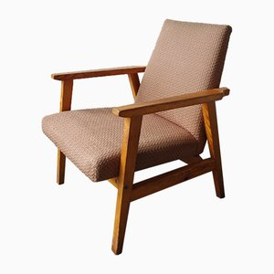 Moderner skandinavischer Armlehnstuhl aus Holz, 1970er