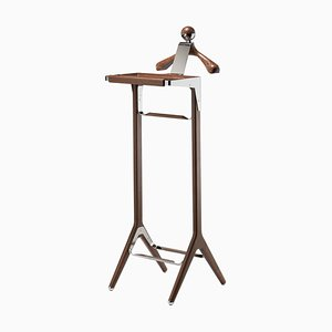 Stainless Steel & American Black Walnut Classical Valet Stand by Honorific