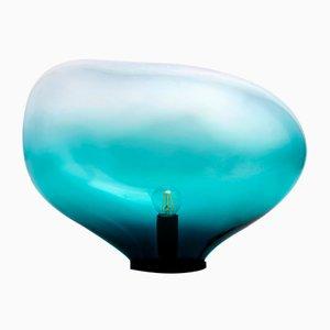 Lampada da tavolo Sedna XXL color petrolio di Simone Lueling per ELOA