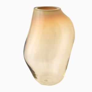 Supernova IV Amber Iridescent L Vase by Simone Lueling for ELOA