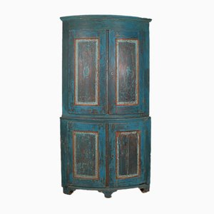 Antique Swedish Corner Cupboard, 1790s