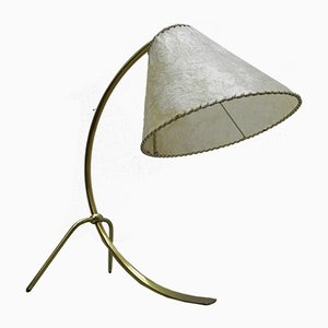 Mid-Century German Brass Crowfoot Table Lamp, 1950s