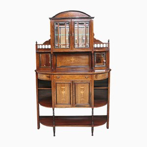 19th-Century Rosewood Inlaid Cabinet