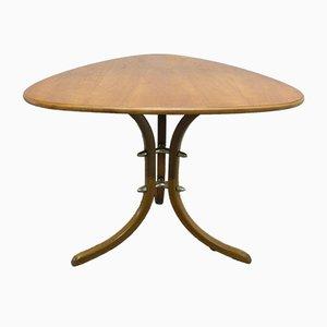 Mid-Century German Cherry Kidney-Shaped Filigree Side Table, 1950s