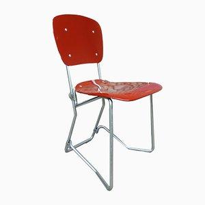 Mid-Century Aluflex Esszimmerstühle aus Aluminium & Birkenholz von Armin Wirth. für Ph. Zieringer KG, 4er Set