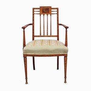 Vintage Armlehnstuhl aus Satinholz im Sheraton Stil, 1920er