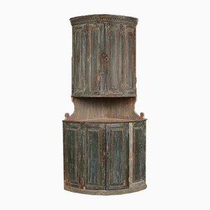Antiker schwedischer Eckschrank, 1780er