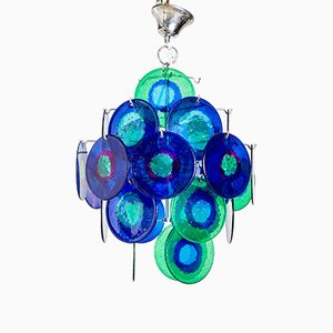 Vintage Multicolored 5-Level Ceiling Lamp, 1970s