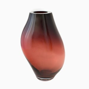 Supernova IV Silver Smoke Red XL Vase by Simone Lueling for ELOA