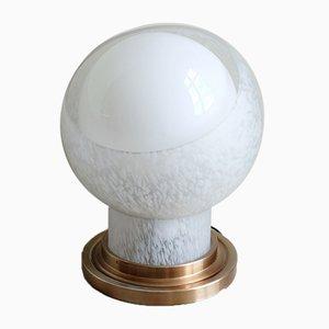 Italienische moderne mundgeblasene Glaskugel-Tischlampe von Mazzega, 1970er
