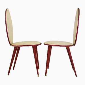 Mid-Century Dining Chairs by Umberto Mascagni, 1950s, Set of 6