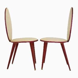 Mid-Century Esszimmerstühle von Umberto Mascagni, 1950er, 6er Set