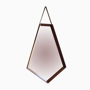 Mid-Century Italian Hexagonal Mirror, 1950s