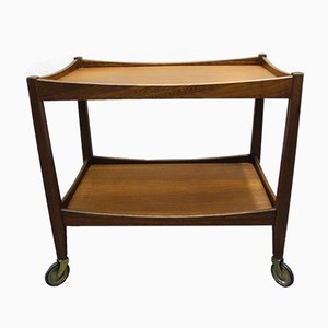 Mid-Century Danish Teak and Veneer Bar Trolley, 1960s