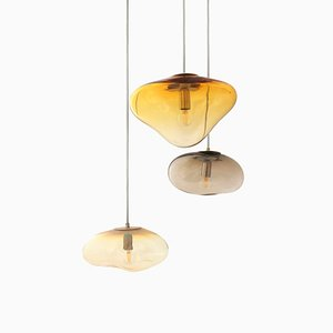 Planetoide Serisi, Hebe & Airisi Pendant Lamps by Simone Lueling for ELOA, Set of 3