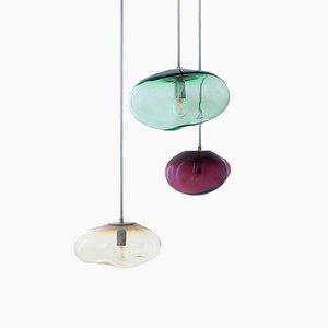 Lámparas colgantes Airisi, Flora & Amor con forma de asteroide de Simone Lueling para ELOA. Juego de 3