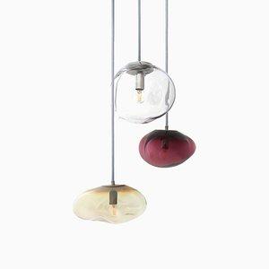 Lámparas colgantes Amor, Juno & Airisi con forma de asteroide de Simone Lueling para ELOA. Juego de 3