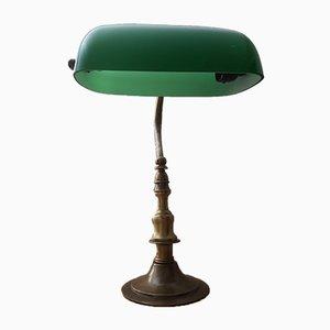 Lámpara de mesa Mid-Century de latón, años 60