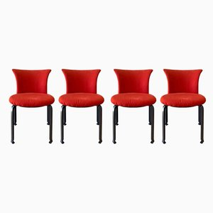Italian Steel Dining Chairs by Kazuhide Takahama for B&B Italia, 1980s, Set of 4