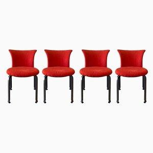 Italienische Esszimmerstühle aus Stahl von Kazuhide Takahama für B&B Italia, 1980er, 4er Set