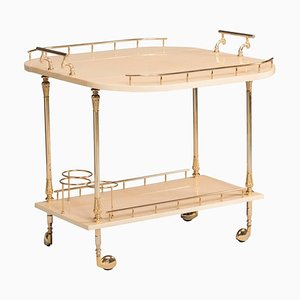 Italian Brass Trolley by Aldo Tura, 1950s