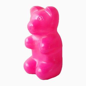 Vintage Haribo Bären Lampe aus pinkem Kunststoff, 1970er