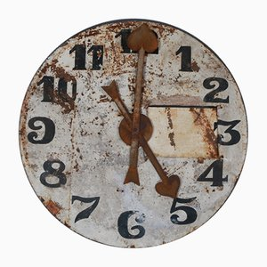 Antique French Metal Decorative Clock Face