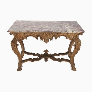 Antique Italian Marble Console Table