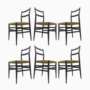 Superleggera Dining Chairs by Gio Ponti for Cassina, 1957, Set of 6