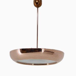 Lámpara colgante Bauhaus de cobre de Josef Hurka para Napako, años 60