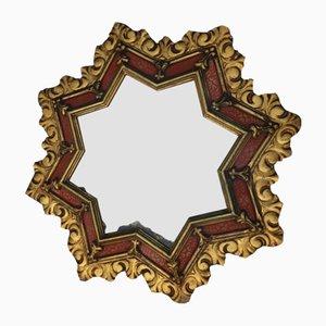 Goldener sternförmiger Vintage Spiegel