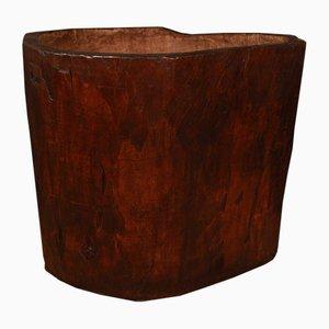 Maceta antigua grande de madera