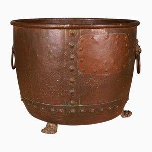 Antiker Aufbewahrungsbehälter aus Kupfer