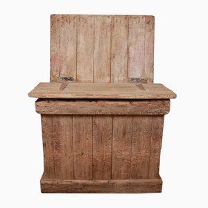 Antique Rustic Wooden Log Bin