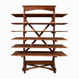 Antique English Pine Baker's Shelving Unit