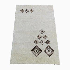Alfombra marroquí vintage de lana tejida a mano, años 70