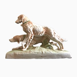 Hunting Dogs Figurine from Royal Dux, 1920s