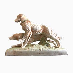 Statuetta di cani da caccia di Royal Dux, anni '20