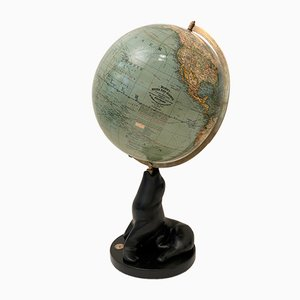 Art Deco German Globe from Mang Adolf, 1930s