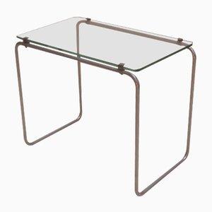 Mesa de centro Art Déco de hierro y vidrio, años 20
