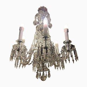 Antike barocke Deckenlampe aus Kristallglas von Bohemia
