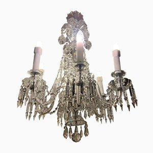 Antique Baroque Crystal Ceiling Lamp from Bohemia