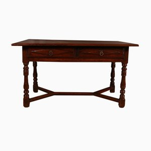 Antique Italian Walnut Side Table, 1790s